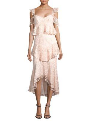 Hayden Lace Midi Dress, Blush