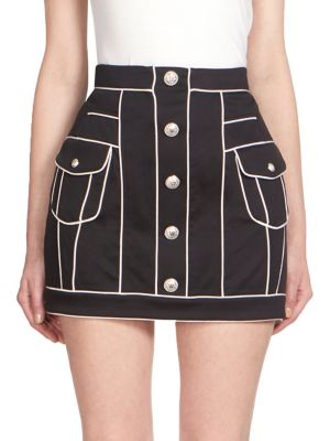 Button Front Mini Skirt by Balmain