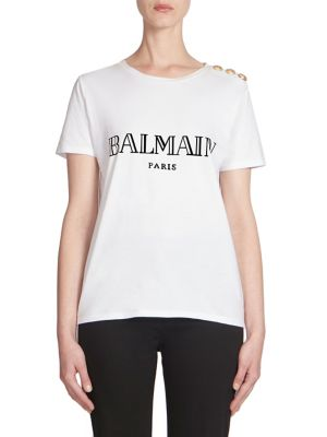 Cotton Logo Tee by Balmain