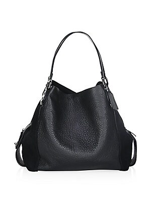 f04d4693 COACH - Edie 42 Mixed Leather Shoulder Bag
