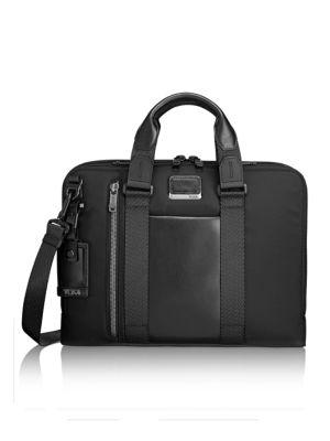 Alpha Bravo - Aviano Slim Briefcase - Black