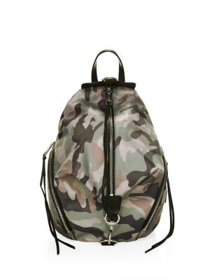 Julian Nylon Backpack - Green, Magenta