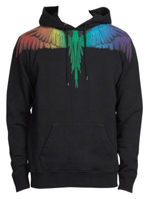 Marcelo Burlon County Of Milan  Rainbow Wings Hooded Sweatshirt