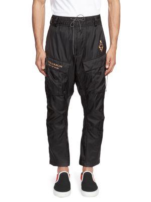 MARCELO BURLON COUNTY OF MILAN Marcelo Burlon Fire Cross Cargo Pants In Black