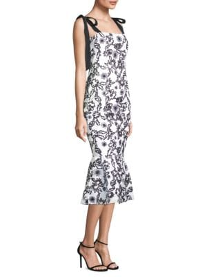 RACHEL ZOE Lily Embroidered Cotton-Gauze Midi Dress in White