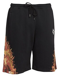 4667f3191 Flame Wing Cotton Shorts BLACK MULTI. QUICK VIEW. Product image
