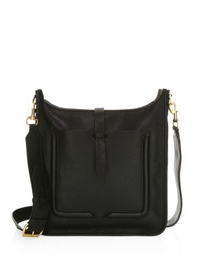 Rebeca Minkoff Feed Leather Crossbody, Black