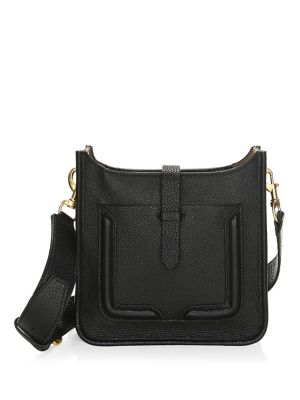 Mini Unlined Leather Feed Bag - Black