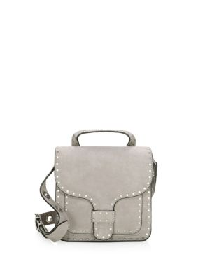 Midnighter Leather Top Handle Bag, Grey