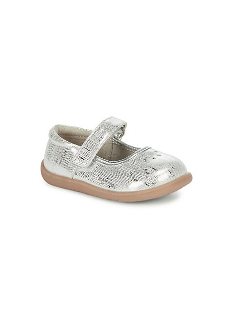Babys  Toddlers Ginger Metallic Leather Mary Janes
