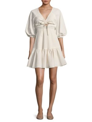 PROSE & POETRY Rony Mini Dress in Shell