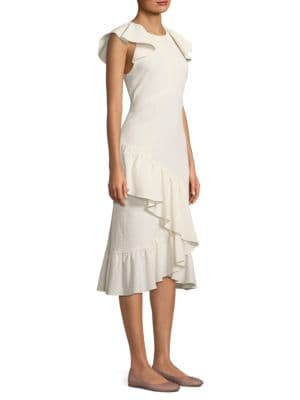 PROSE & POETRY Cadence Midi Dress in Shell