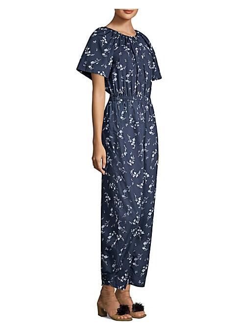 Short Sleeve Floral Jumpsuit