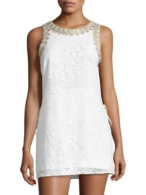 Lilly Pulitzer Playsuits Donna Embroidered-Trim Lace Romper