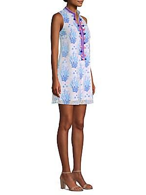 627943e4447 Lilly Pulitzer - Jane Printed Lace Shift Dress - saks.com