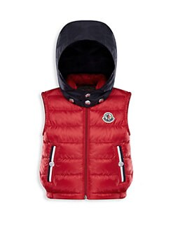 red moncler baby coat