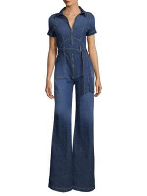 AO.LA Gorgeous Collar Wide-Leg Jumpsuit in Love Train