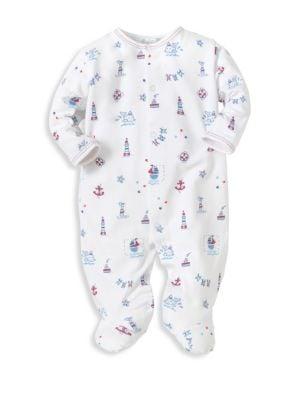 Babys NauticalPrint Footie