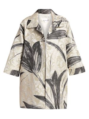Caroline Rose Plus Jacquard Tulip Jacket