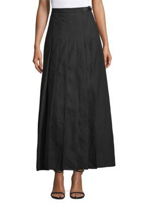 Evelin Kilt Skirt, Black