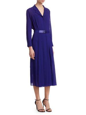Wool Crepe Georgette Shirt Dress by Akris