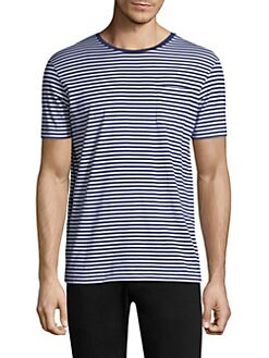 Striped Cotton Tee FALL ROYAL. Product image