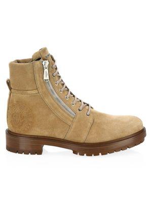 Balmain Ranger Suede Combat Boots