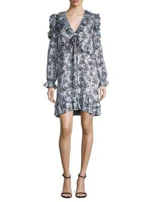 Robert Rodriguez  Orchid Ruffle Dress