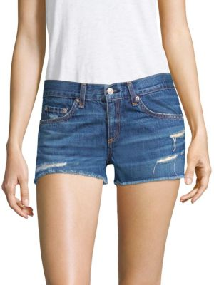 Cutoff Distressed Denim Shorts, Johny
