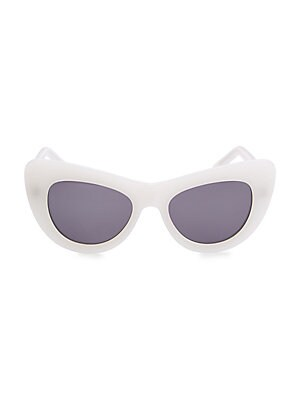 Image of Oversized tonal lenses with a sculpted cat eye shape 53mm lens width; 19mm bridge width; 140mm temple length 100% UV protection Case and cleaning cloth included Acetate Imported. Soft Accessorie - Sunglasses. Andy Wolf. Color: Red Black.