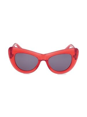 Jan Cat Eye Sunglasses, Red Black