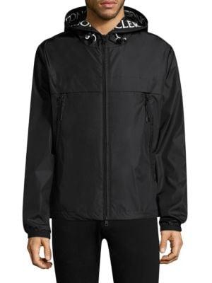 Massereau Logo-Embroidered Hooded Jacket in Black