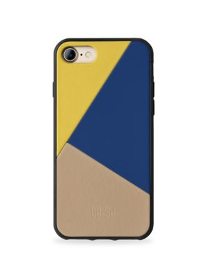 BOOSTCASE Clic Marquetry Leather Iphone 7 Case in Canary Multi