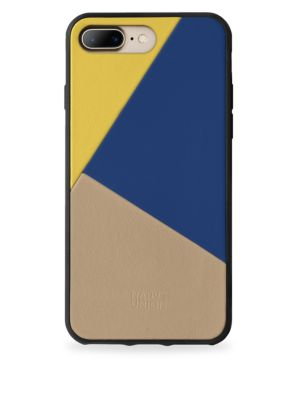 BOOSTCASE Clic Navy Leather Iphone 7 Plus Case in Canary Mul