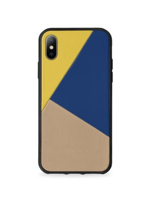 BOOSTCASE Clic Navy Leather Iphone 8 Plus Case in Canary Mul