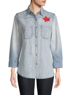 SANDRINE ROSE The Mullholland Denim Shirt in Paris