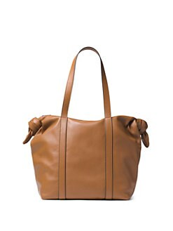 59364350b617 Michael Kors Collection Knot Leather Zip Tote
