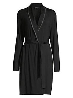 La Perla. Wrap-Style Short Robe df0e11393