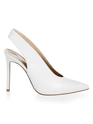 Point Toe Leather Slingback Pumps by Gianvito Rossi