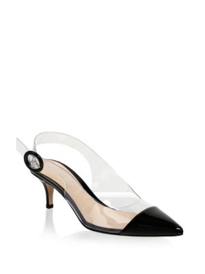 Gianvito Rossi Point Toe Slingback Pumps Z7pLcdAn