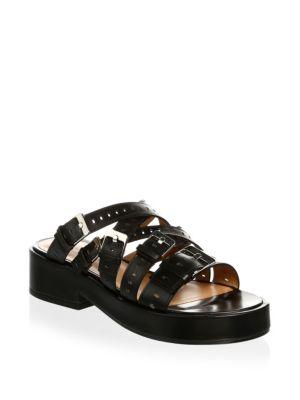Clergerie Black Fantom 40 Leather Sandals