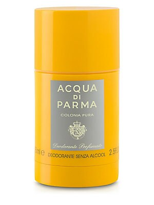 Image of A new and alcohol-free formula ideal for sensitive skin. Delicately perfumed with the essence of Colonia Pura, it guarantees a pleasant feeling of day-long freshness. 2.5 oz. Made in Italy. Fragrances - Acqua Di Parma > Saks Fifth Avenue. Acqua Di Parma.