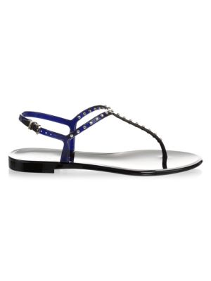 L.k. Bennett Laces Studded Jelly Thong Sandals