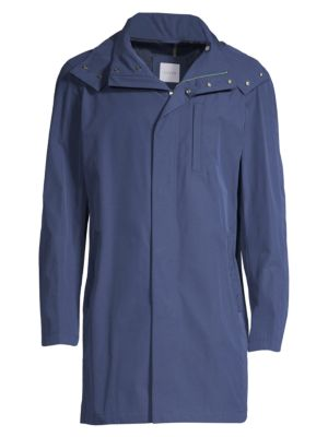 SANYO May Cape Trench Coat in Royal Blue