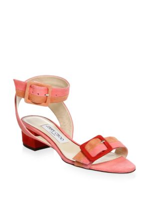 Jimmy Choo  Patchwork Suede Sandals