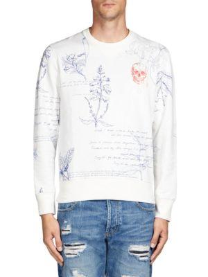 Alexander Mcqueen  Scrabble Print Sweatshirt