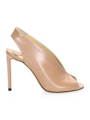 Women'S Shar 100 Slingback Peep-Toe Pumps in Nude