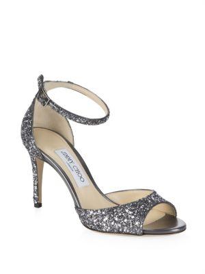 Star Coarse Glitter Sandals by Jimmy Choo