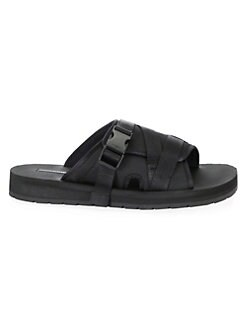 3f5c178eeac57 Buckle Wrap Slides BLACK. QUICK VIEW. Product image