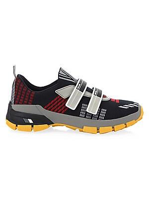 PradaPrinted Knit Strap Sneakers gVAxLZ